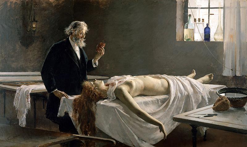 Enrique Simonet - La autopsia - 1890