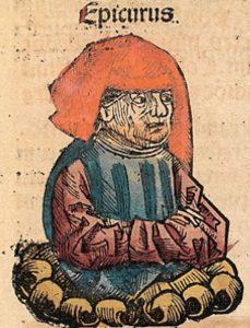 Epicurus, Nuremberg Chronicle 1493