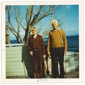 The author and his father, Waitahanui River, 197
