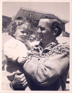 Tui and her father Kaj Westerskov in Naenae 1955